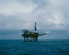 Claymore-A oil production rig, North sea