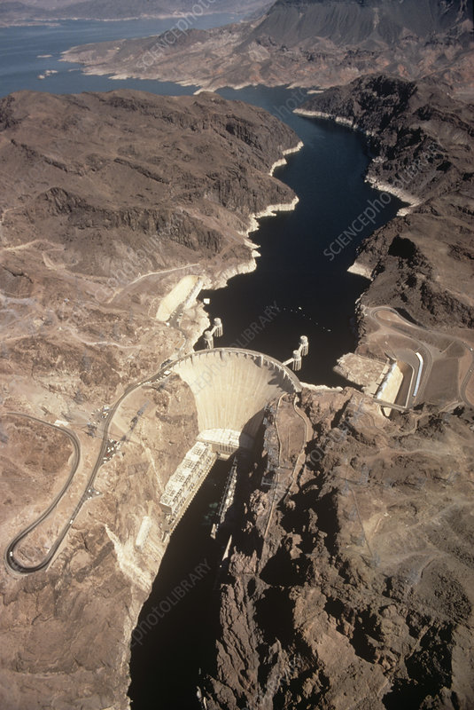 Hoover dam on the Colorado River.