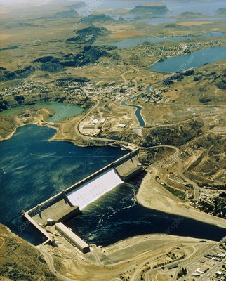 Aerial view of Grand Coulee Dam