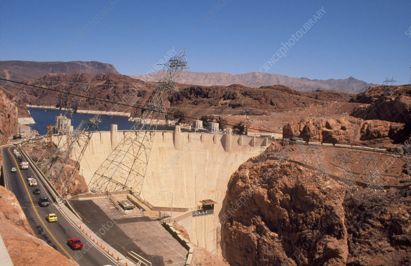 Hoover Dam, Colorado River, USA