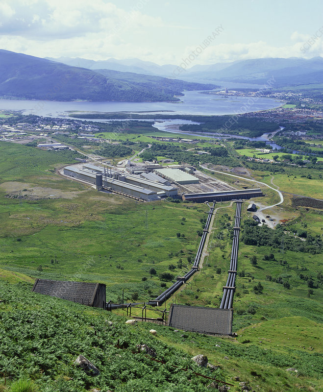 Hydroelectric plant and aluminium works, Scotland