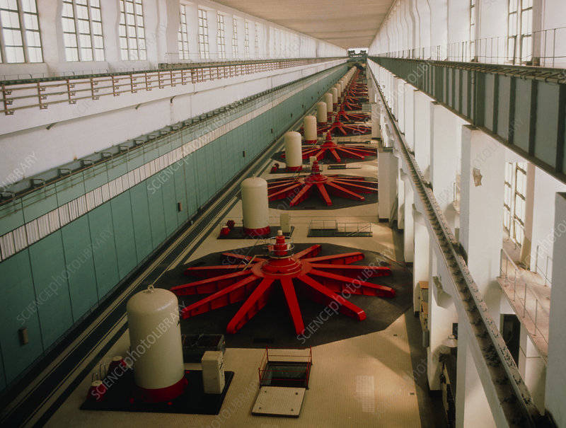 Generator hall of Russian hydropower station