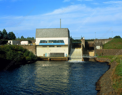 Small hydropower station, Skeen, Sweden