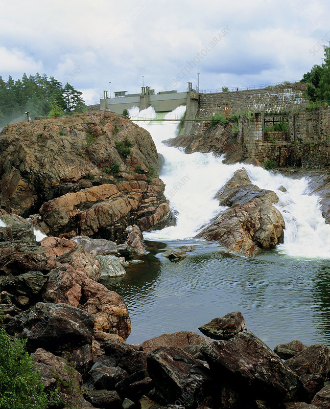 Water being released from dam, Sweden