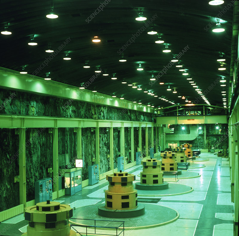 Underground hydroelectric power station