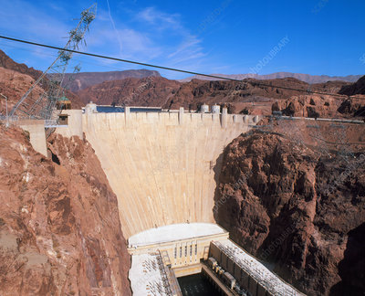 Hoover hydroelectric dam, Colorado River, USA