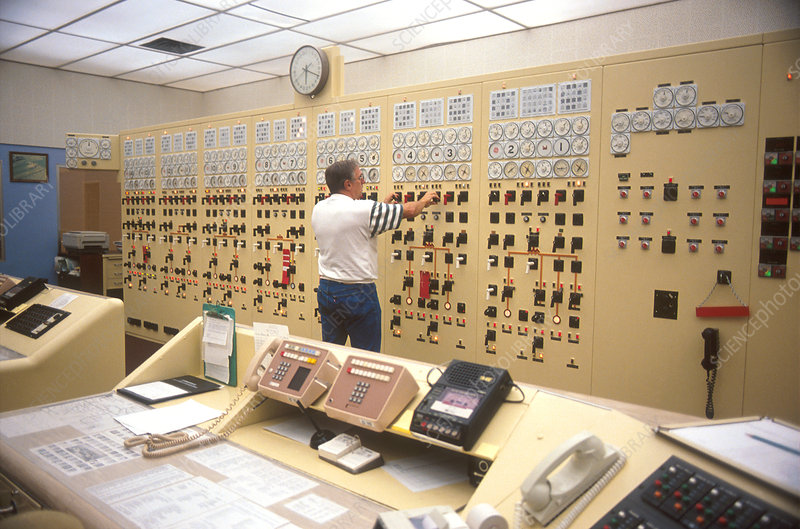 Control room of The Dalles Dam