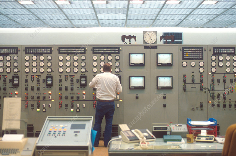 Control room at the Hungry Horse Dam