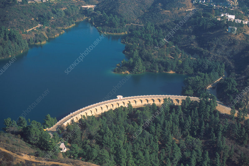 Lake Hollywood Dam in Los Angeles, CA