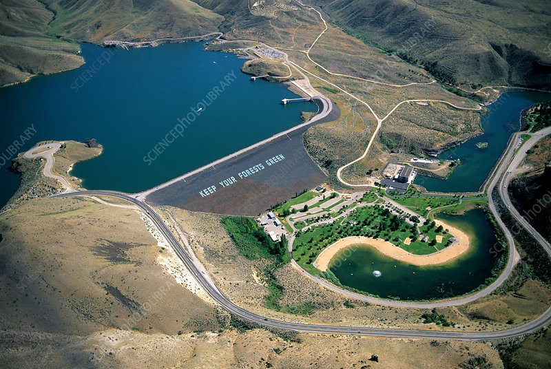 Lucky Peak Reservior and Dam