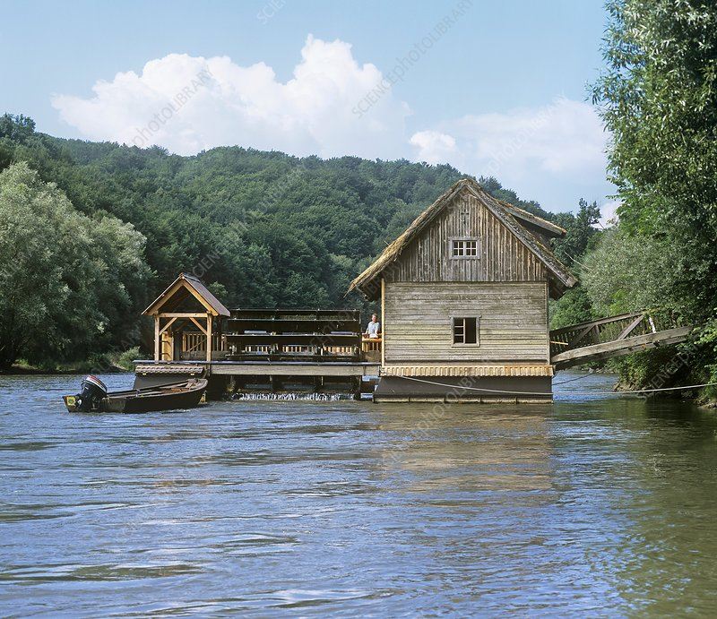 Floating water mill, Austria