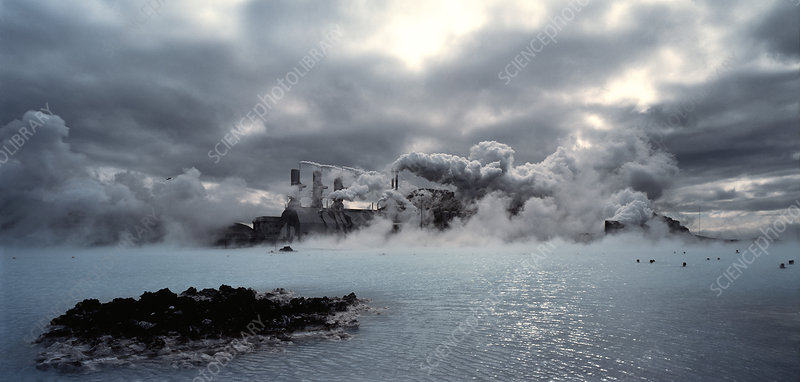 Geothermal power station at Svartsengi, Iceland