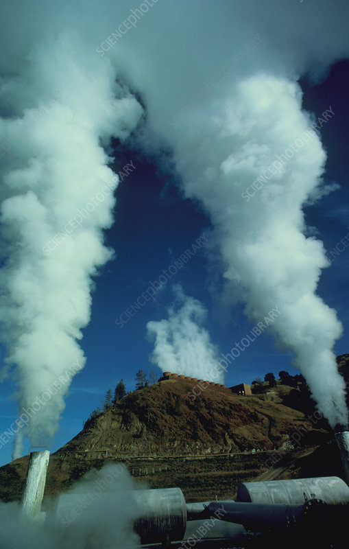 Geothermal power station in California, USA