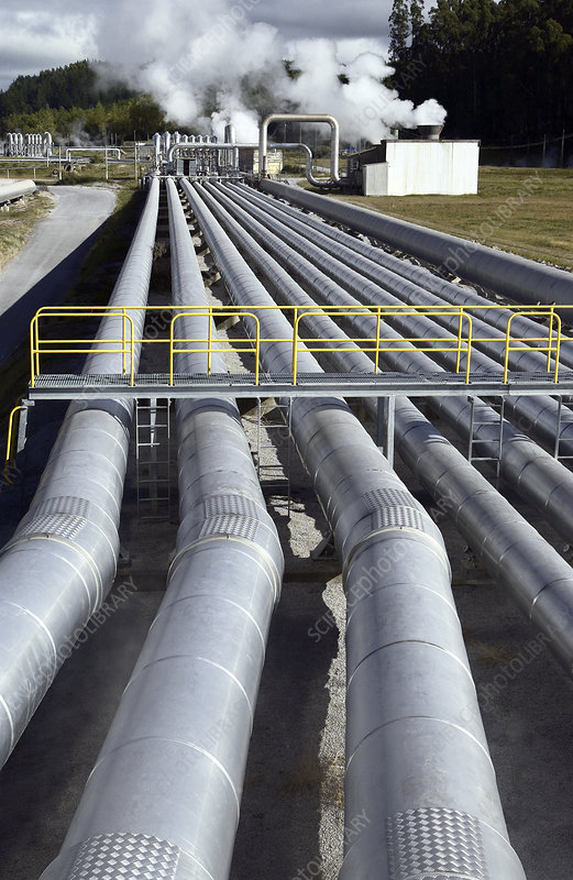 Geothermal power station piping