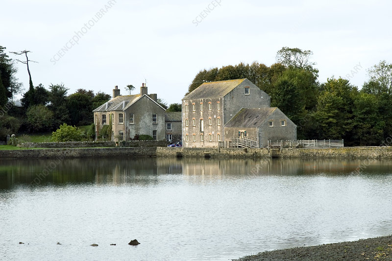 Carew mill, Pembrokeshire, Wales, UK