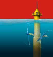 Tidal energy converter, artwork