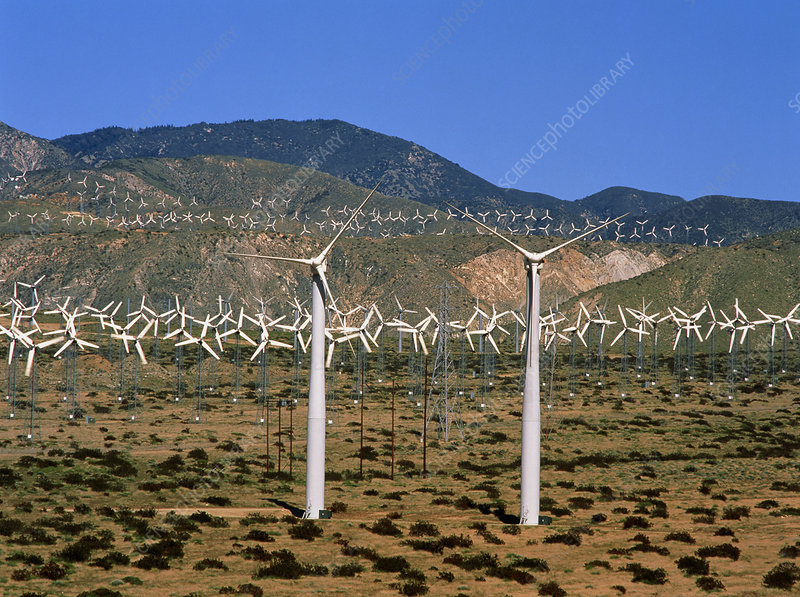 Wind farm, San Gorgonio Pass, California