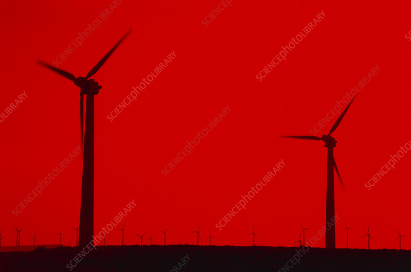 Wind turbines at a wind farm