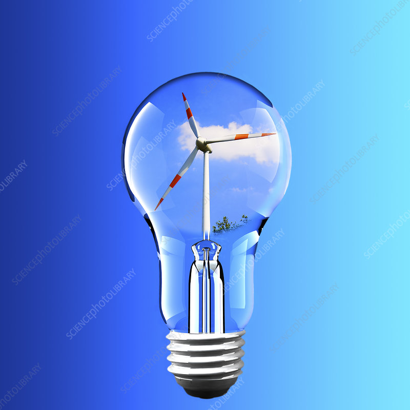 Wind power, conceptual image