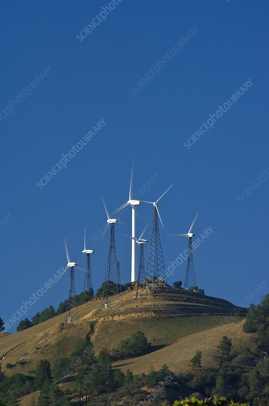 Wind turbines, California, USA