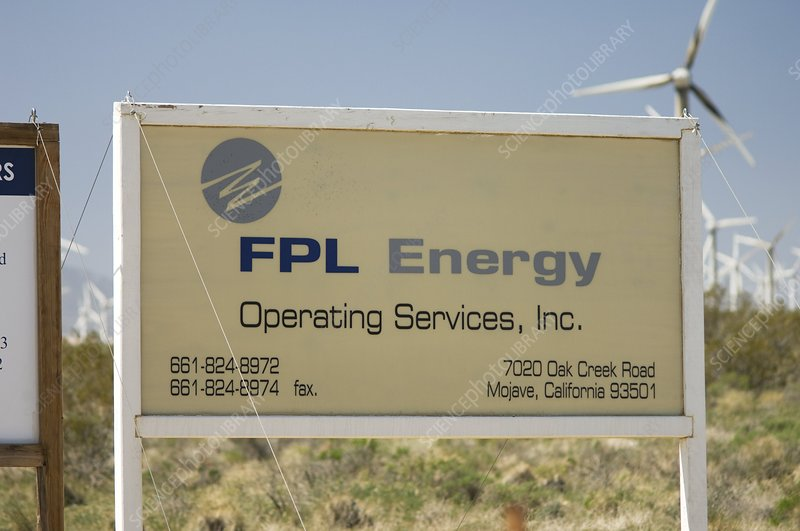 FPL Energy sign, California, USA