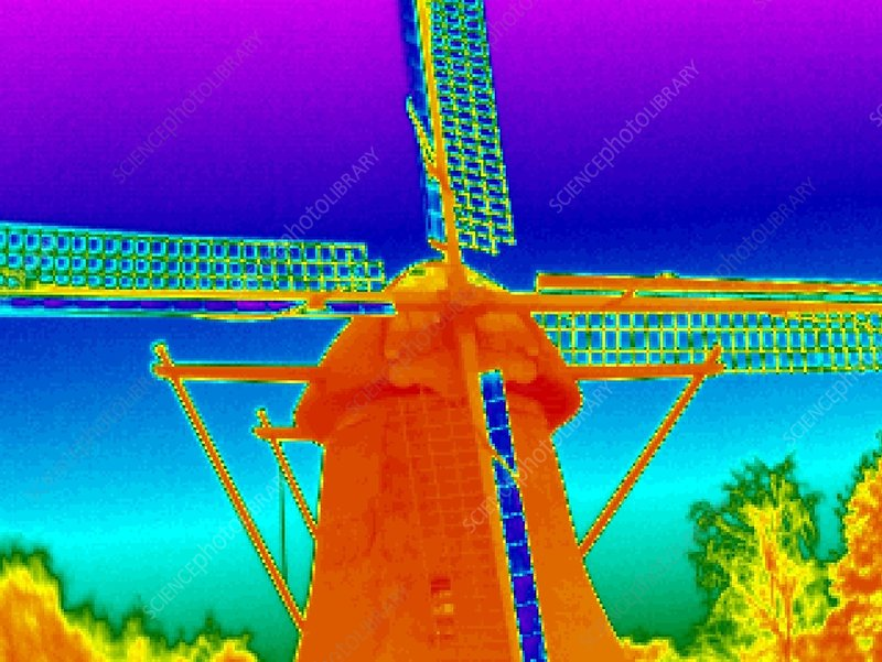 Windmill, thermogram