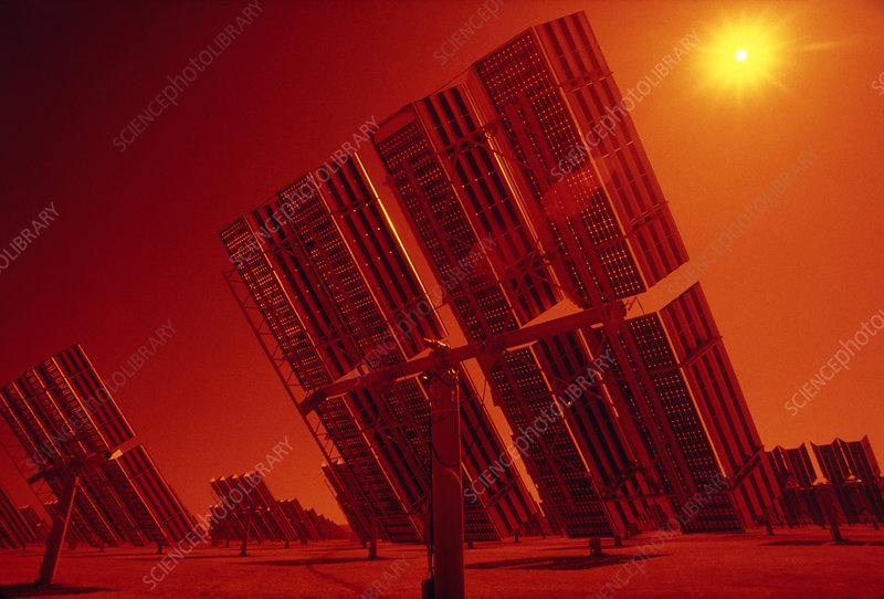 Photovoltaic cells of solar power station