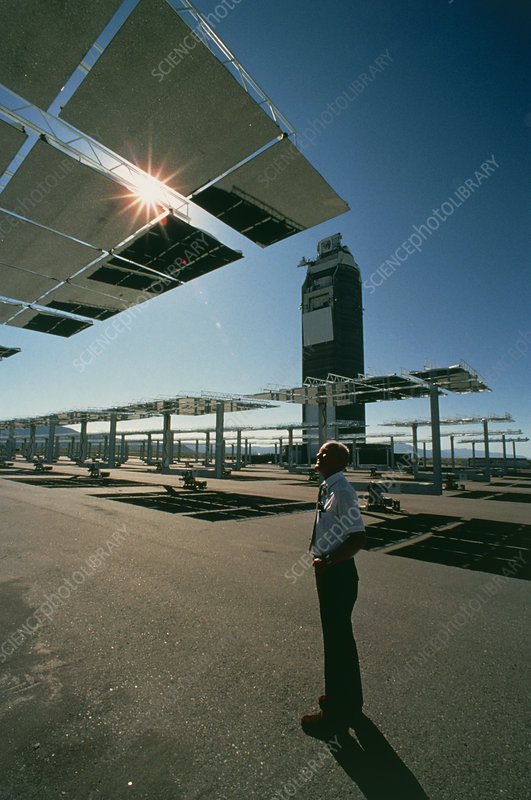 An engineer at CrtF solar power station
