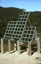 Solar panel for telephone station