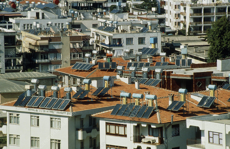 Solar panel heating systems