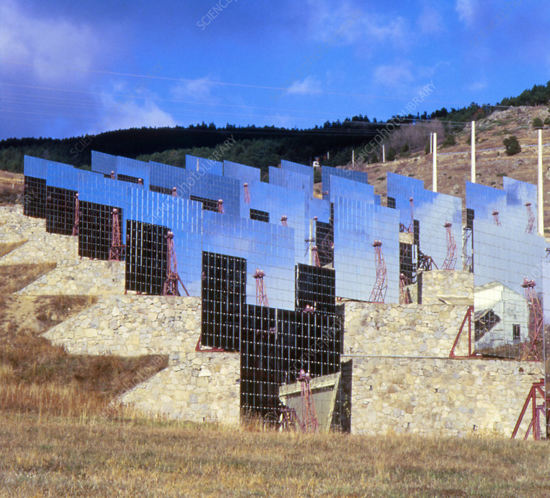 View of solar power station
