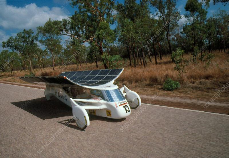 Solar-powered car, race entrant, Australia '87