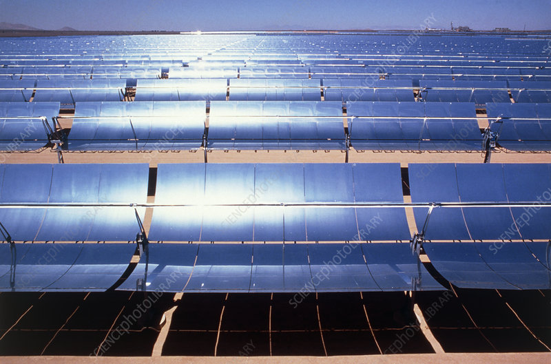 Solar energy complex at Kramer Jnct, Mojave, Ca