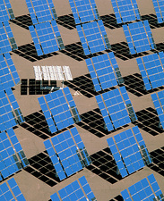Solar reflectors at Albuquerque