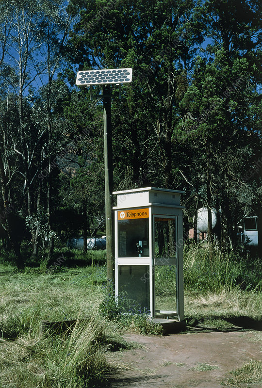 Solar powered telephone box, Australia