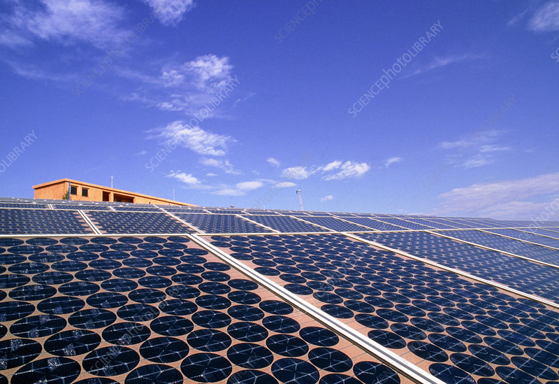 Solar power station in a desalination plant