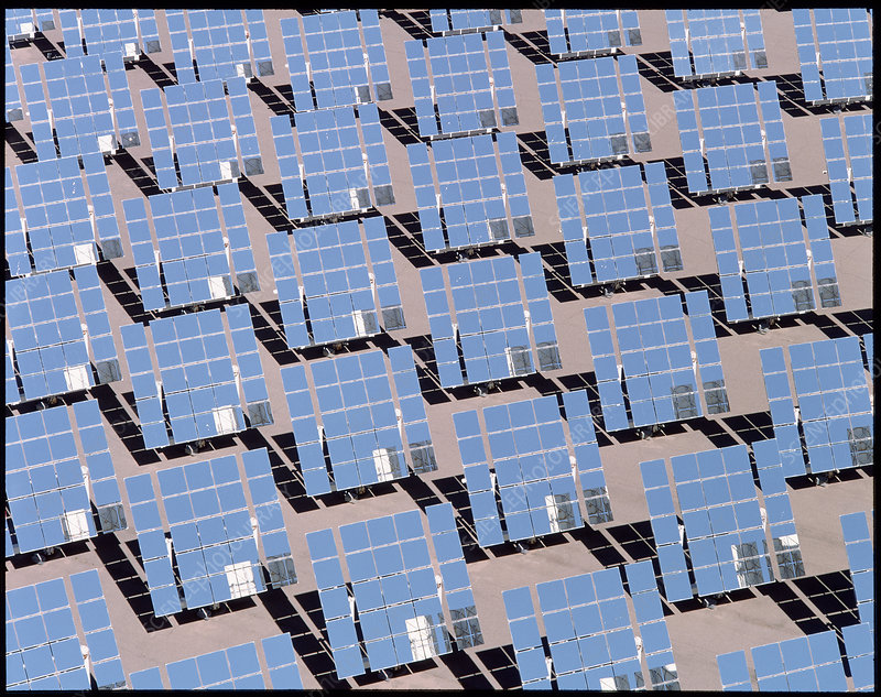 Solar reflectors at Albuquerque, power station