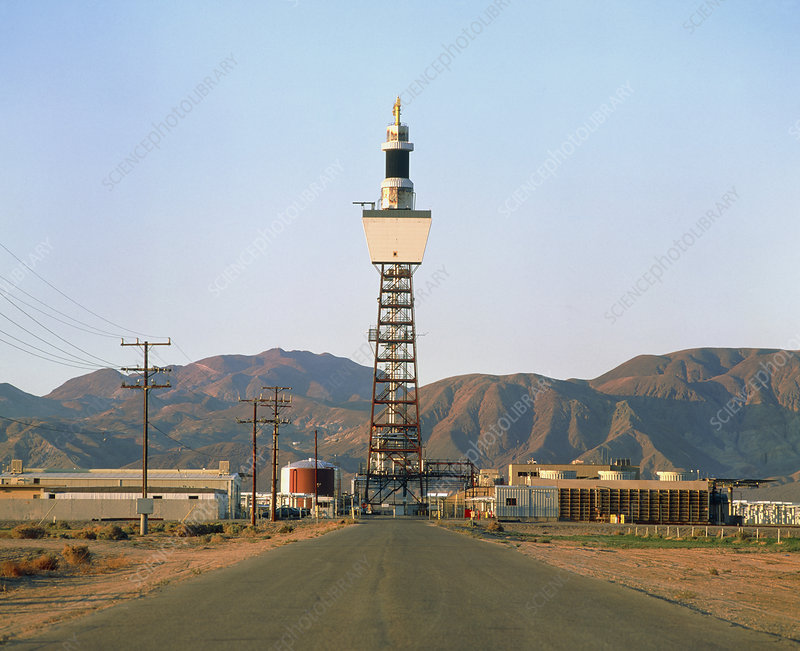 Power Tower at the Solar Two solar power station