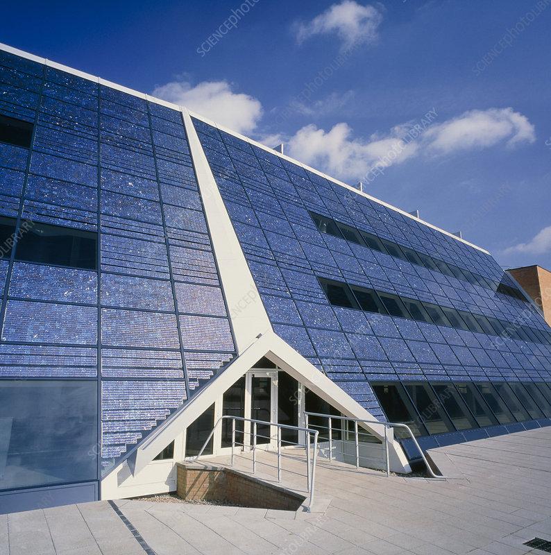 Solar Powered Office Buildings : Real build a high efficiency solar panel energy powers