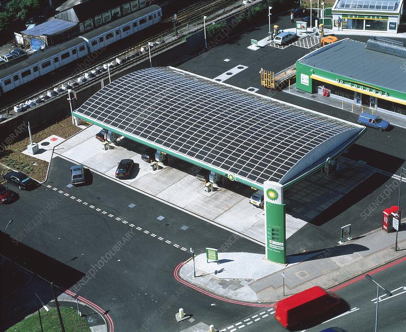 Solar Powered Petrol Station Stock Image T152 0477