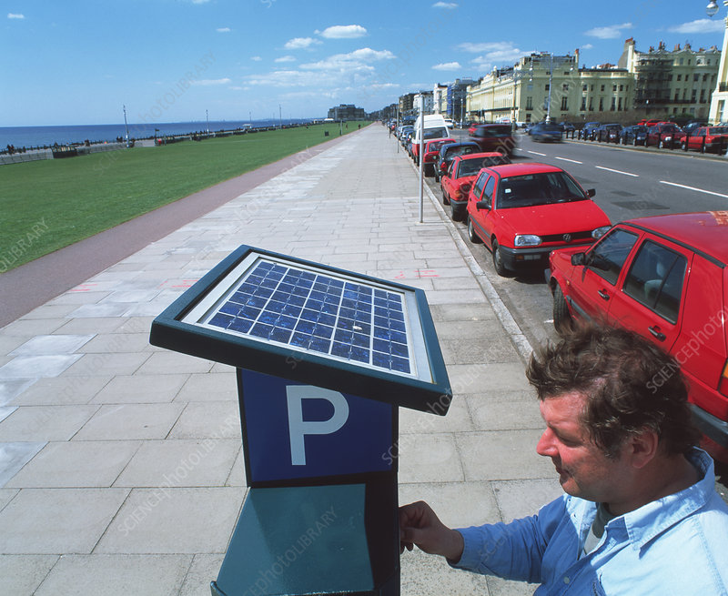 Solar-powered ticket machine