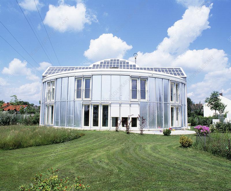 solar powered house. Solar-powered house