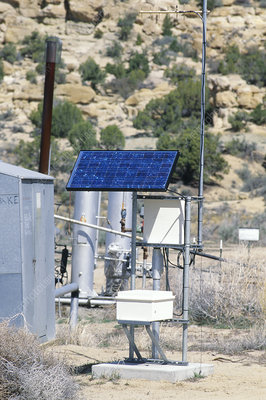 Solar panels on gas well
