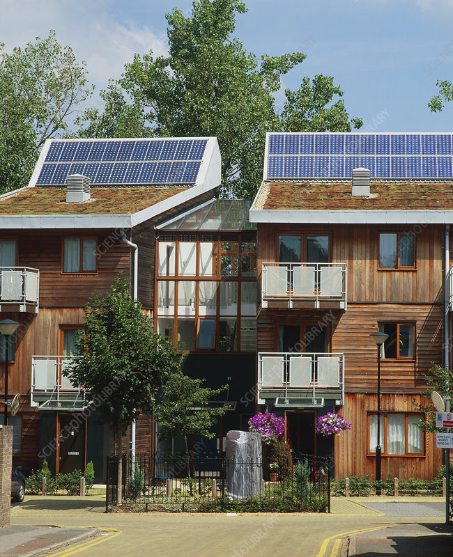 Photovoltaic cells on houses