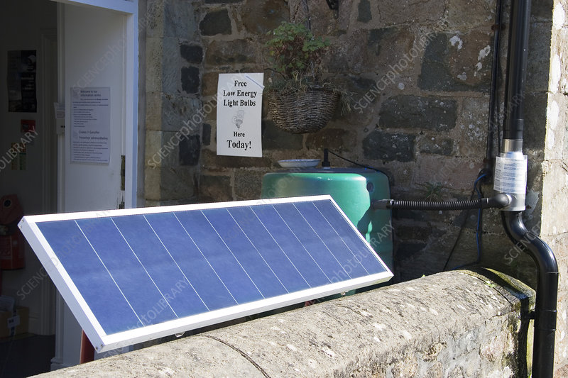 Solar panel at the ECO Centre, Wales