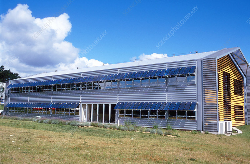 Tenesol's solar-powered building, France