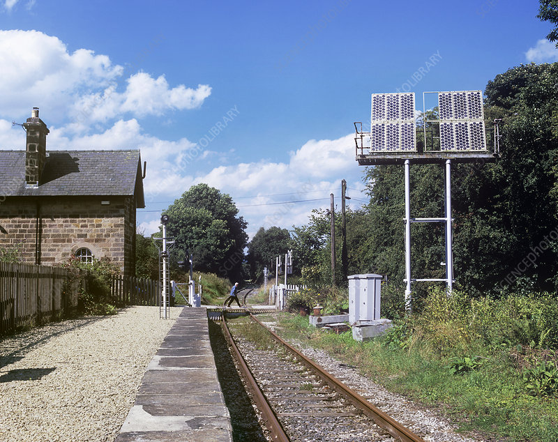 Solar powered level crossing