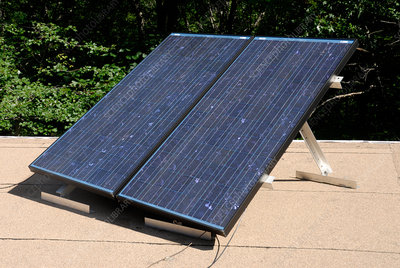 Array of photovoltaic solar energy panels