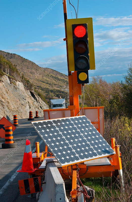 Solar Powered Stop Light