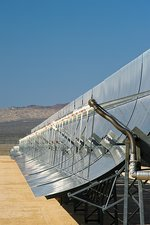 Solar parabolic mirror, California, USA